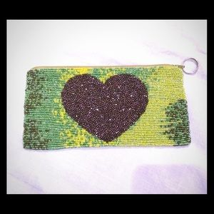 Beaded pouch NWT